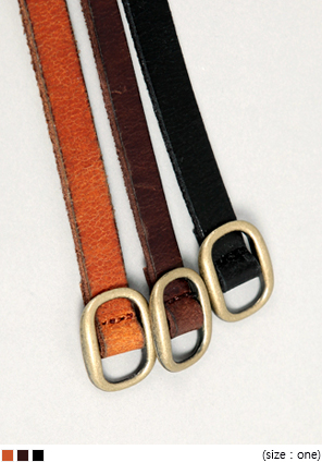 [ACC] SLIM LEATHER BELT