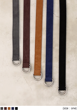[ACC] D RING SUEDE BELT