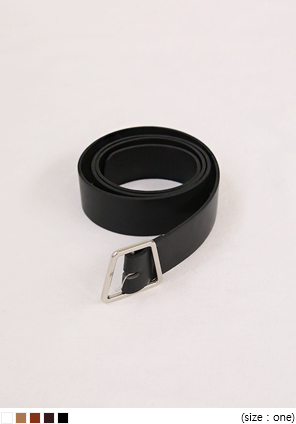 [ACC] UNBAL SQUARE LEATHER BELT