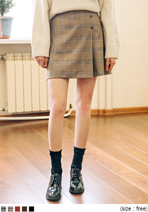 [SKIRT] 2 TYPE GOLD BUTTON PANTS SKIRT