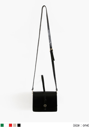 [BAG] SQUARE LEATHER TWO WAY BAG