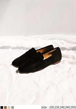 [SHOES] SLIM SHARP TOE SUEDE LOAFER