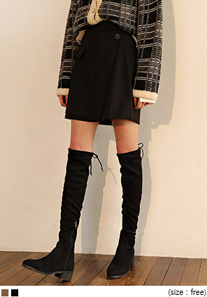 [SKIRT] F/W COLOR MIX WRAP SKIRT
