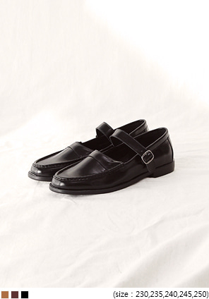 [SHOES] STRAP BANDING LOAFER - 2 TYPE