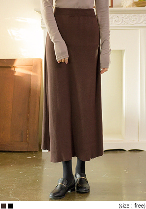 [SKIRT] FLARE LONG KNIT SKIRT