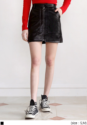 [SKIRT] FUNKY GLOSSY LEATHER SKIRT