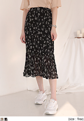 [SKIRT] DANDELION FLOWER CREASE SKIRT
