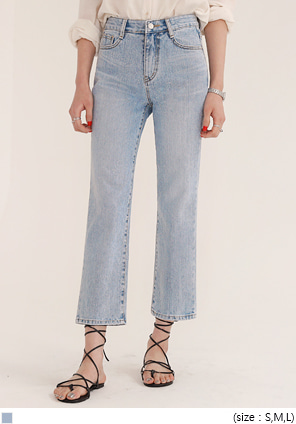 [BOTTOM] LIGHT WASHING BOY DENIM PANTS