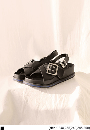 [SHOES] CHIC CROSS STRAP SANDAL