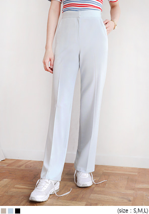 [BOTTOM] BASIC THIN STRAIGHT SLACKS