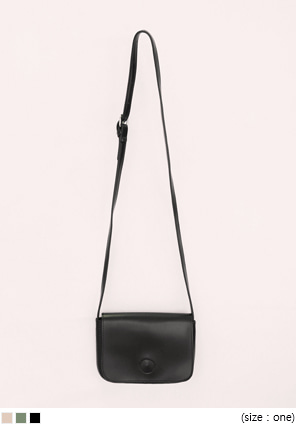 [BAG] SOFT FLAT LEATHER MINI BAG