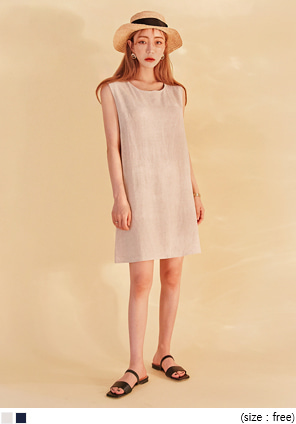 [OPS] COCO LINEN SLEEVELESS MINI OPS