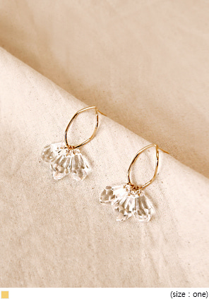 [JEWELRY] LIMPID CRYSTAL DROP EARRING