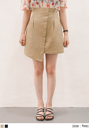 [SKIRT] TRENCH HIGH BANDING UNBAL SKIRT