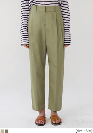 [BOTTOM] MILD PINTUCK HIGH WIDE PANTS