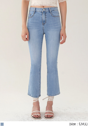 [BOTTOM] CLEAR BLUE BOOTS DENIM PANTS