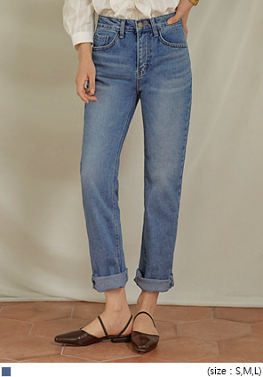 [BOTTOM] NORMAL STRAIGHT DENIM PANTS