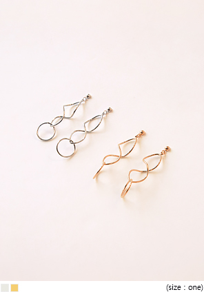 [JEWELRY] STRONG WAVE DROP EARRING