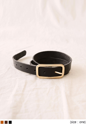 [ACC] GOLD OBLONG BUCKLE BELT