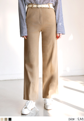 [BOTTOM] WOODY STRAIGHT COTTON PANTS