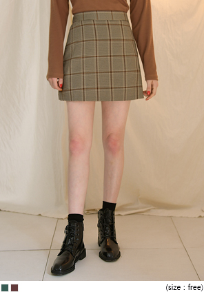 [SKIRT] MOCHA GLEN SET-UP PANTS SKIRT