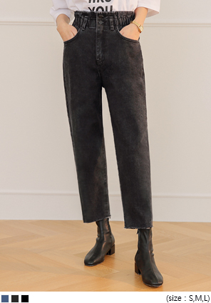 [BOTTOM] 2 BUTTON BANDING BAGGY PANTS