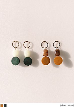 [JEWELRY] WOODEN MIX DROP EARRING