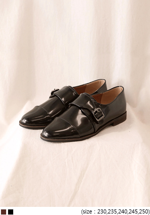 [SHOES] MANNISH BUCKLE STRAP LOAFER