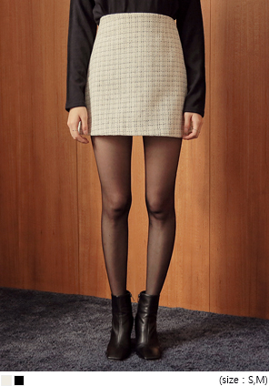 [SKIRT] FANCY TWEED SET-UP MINI SKIRT