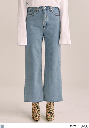 [BOTTOM] DELICATE HIGH WIDE DENIM PANTS