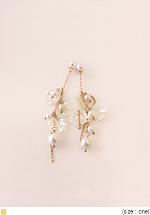 [JEWELRY] CLAM PEARL MIX DROP EARRING