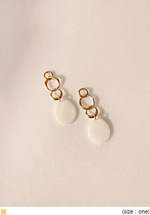 [JEWELRY] CLAM GOLD DROP EARRING