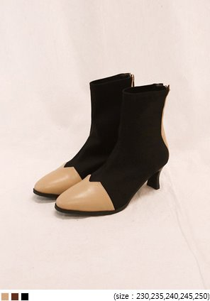 [SHOES] LIMBER COLOR POINT ANKLE BOOTS