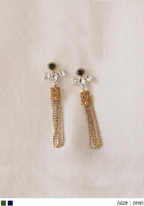 [JEWELRY] TWINKLE CUBIC DROP EARRING