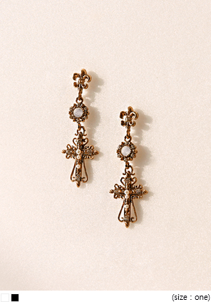 [JEWELRY] VICTORIAN MIX GEM DROP EARRING