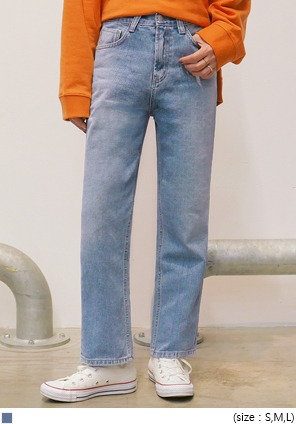 [BOTTOM] EASY STRAIGHT WIDE DENIM PANTS