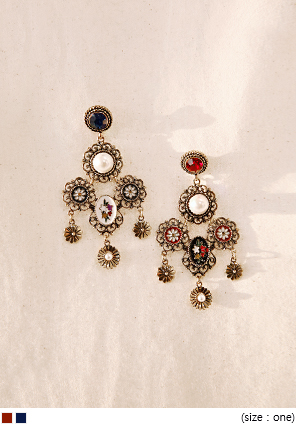 [JEWELRY] TREASURE PEARL DROP EARRING