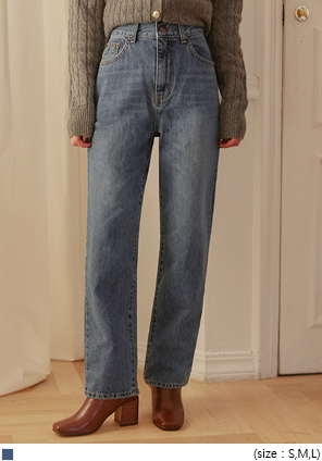 [BOTTOM] CODE STRAIGHT DENIM PANTS