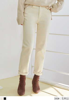 [BOTTOM] WONDER STRAIGHT COTTON PANTS