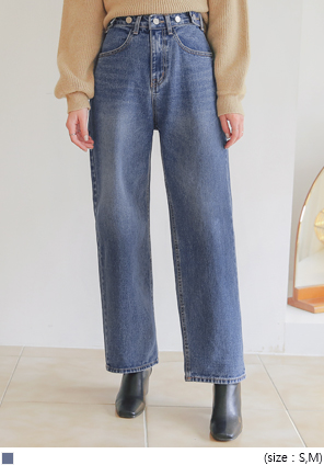 [BOTTOM] BREED 2 BUTTON DENIM PANTS