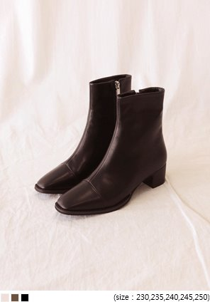 [SHOES] LINK SQUARE ANKLE BOOTS
