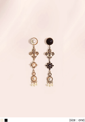 [JEWELRY] ANTIQUE PEARL DROP EARRING