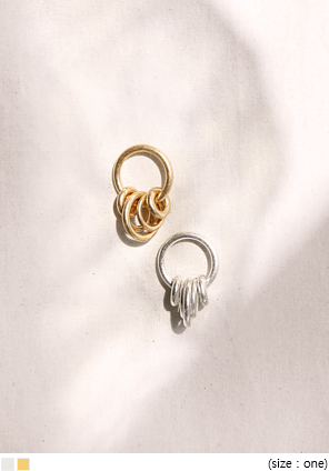 [JEWELRY] MATT CIRCLE RING EARRING