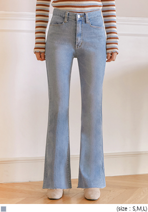 [BOTTOM] SLICE BOOTS SPAN DENIM PANTS
