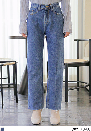 [BOTTOM] BUNKER CUTTING DENIM PANTS