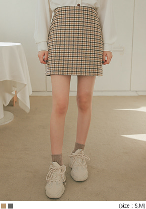 [SKIRT] ISABEL WOOL 40% CHECK MINI SKIRT