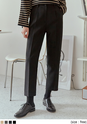 [BOTTOM] MOTEN BANDING CROP SLACKS