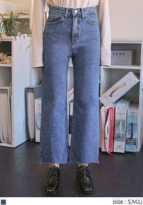 [BOTTOM] MUZZLE STRAIGHT DENIM PANTS