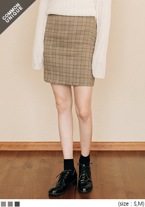 [SKIRT] VELY CHECK SET MINI SKIRT