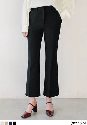 [BOTTOM] SEMI BOOTS CROP SLACKS
